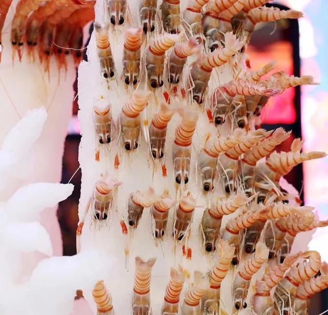 茗虾荟-冰雕冻虾